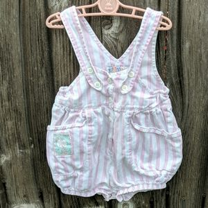 Offspring Vintage Baby Romper Suit Pink Stripe 24M